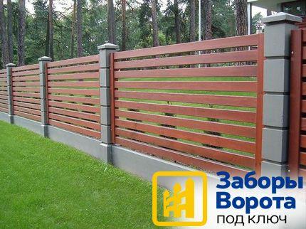 Забор модульный 3