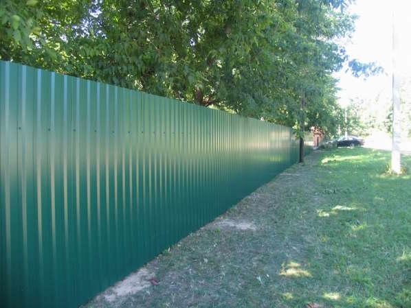 Забор из профнастила (металлопрофиля)4 фото и цены