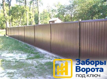 Забор из профнастила (3)