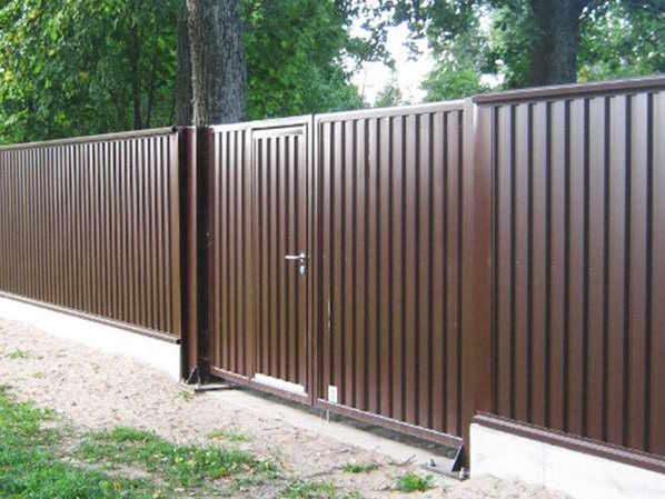 Забор из профнастила (металлопрофиля)3 фото и цены