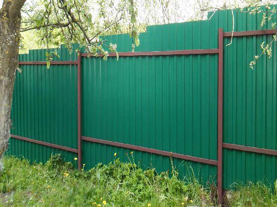 Забор из профнастила (Металлопрофиля)1 фото и цены